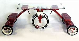 one of a kind coffee table made from used radio flyer With one of a kind coffee tables