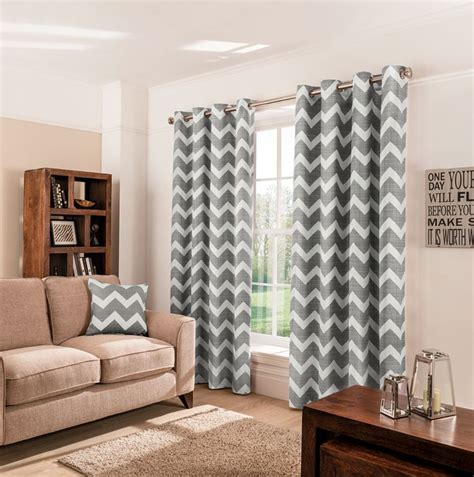 1000 ideas about grey chevron curtains on