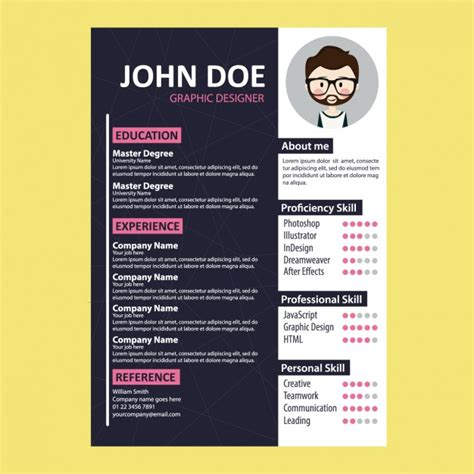 templates de curriculo para download coloured curriculum vitae template vector free download