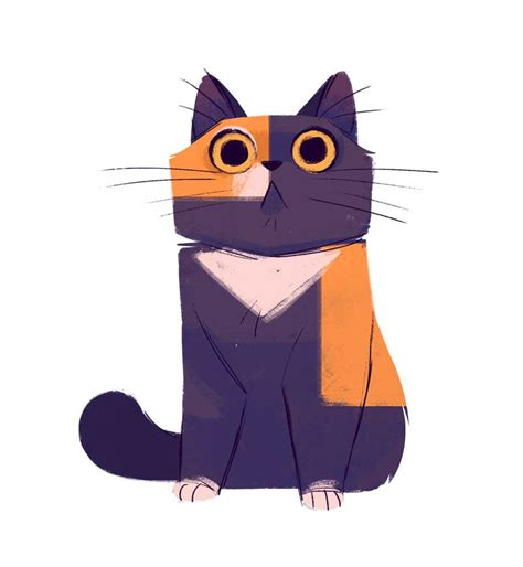 daily cat drawings  calico cat drawing cat