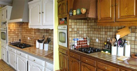 comment renover sa cuisine en chene moderniser sa cuisine rustique rénovation cuisine rustique