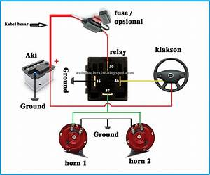 Wiring Diagram Klakson Dengan Relay