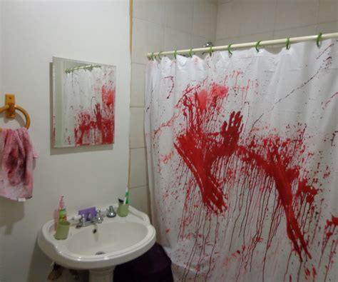 create  bathroom murder scene