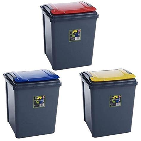 poubelle recyclage cuisine lot de 3 poubelles de recyclage 3669100460724 cuisine maison poubelles de recyclage