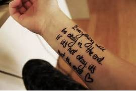 Anchor tattoo on wrist...Quote Tattoos For Girls On Wrist