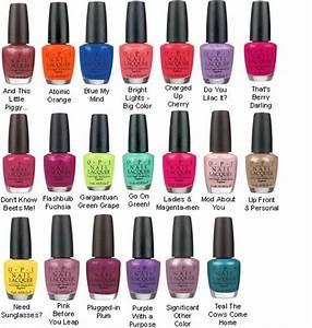 Opi Nail Polish Color Names List | www.pixshark.com ...