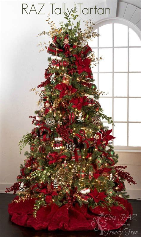 ideas  red christmas trees  pinterest gold