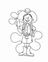 Cowgirl Coloring Funny Draw sketch template