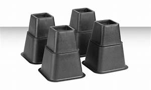 8 pack of adjustable bed risers with 4 small and 4 large With adjustable bed risers home depot