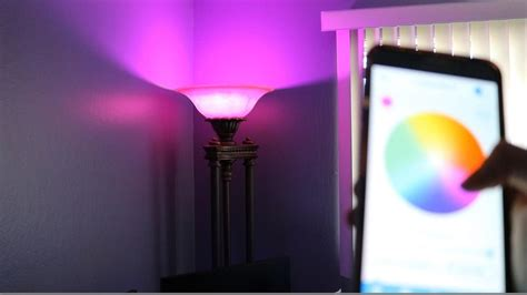 color changing light bulb the light bulb that changes color remotely from your