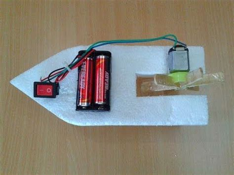 Electric Toy Boat Videos by How To Make A Diy Toy Working Boat Using Thermocol Dc