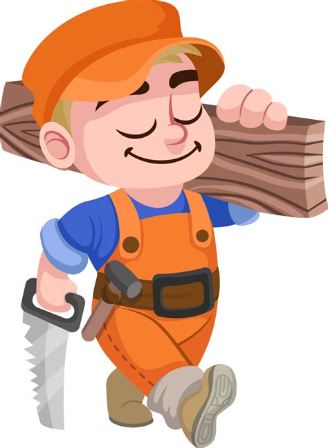 Cartoon Carpenter Clip Art Free