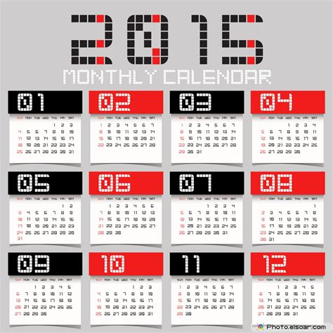 abstract simple 2015 calendars elsoar
