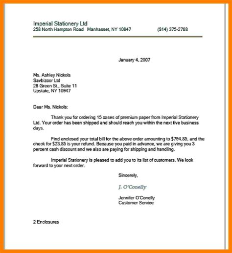 exles of modified block style business letter cover
