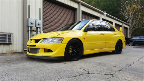 Mitsubishi Lancer 2003 Parts by Fs 2003 Evo 8 Yellow Track Car Or Parts Car