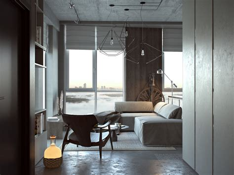 Concrete Finish Studio Apartments: Ideas & Inspiration : 3 Open Studio Apartment Designs