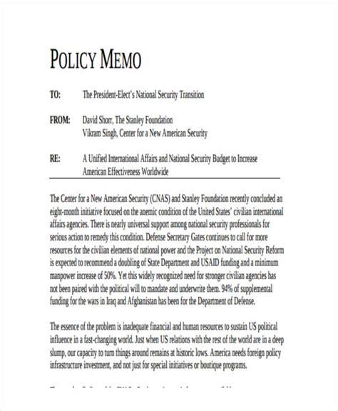 policy memo template 14 formal memo exles sles