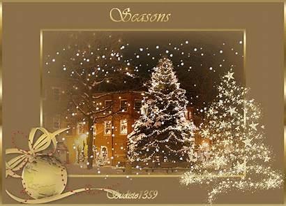 Greetings Seasons Season Christmas Animated Merry Golden