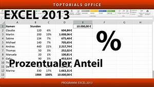1 Prozent Regelung Berechnen : prozentualen anteil berechnen excel toptorials ~ Themetempest.com Abrechnung
