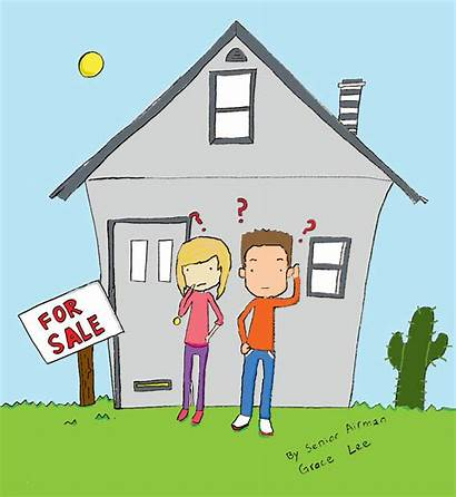 Buyer Buying Cartoon Buyers Mortgage Estate Clipart