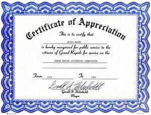 Appreciation Certificate Templates Free Download