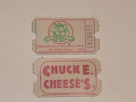 Chuck E. Cheese's Tickets | I won an awful lot of these. I ...