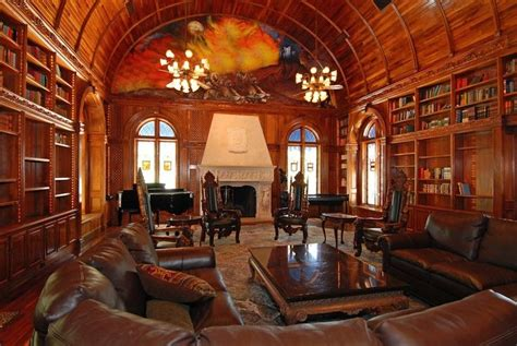 Library With Vaulted Ceiling