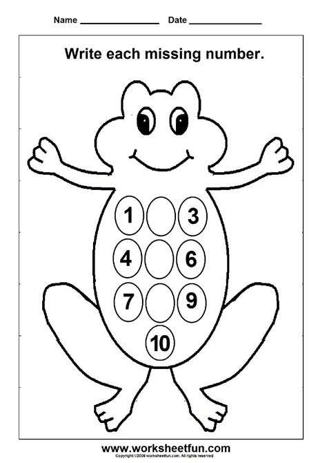 Missing Numbers  (1 To 10)  1 Worksheet  Free Printable Worksheets Worksheetfun