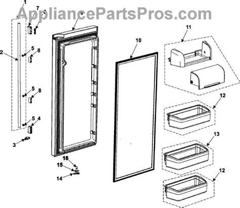 samsung refrigerator door replacement parts for samsung rm255labp refrigerator door parts