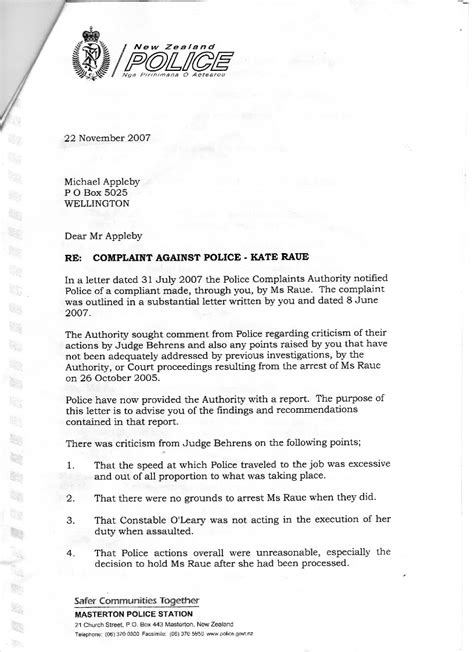Transparency in New Zealand - Kiwikileaks: Police