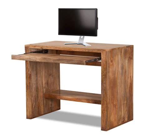 stylish computer tables solid mango wood computer desk casa handcrafted