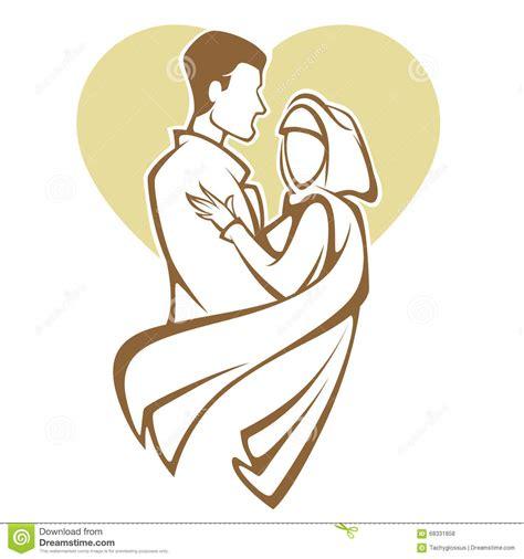musulman pour mariage mariage musulman illustration de vecteur image 68331858