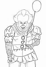 Pennywise Coloring Pages Template Deviantart sketch template