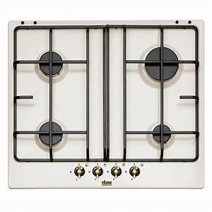 Table De Cuisson Gaz 4 Feux : table de cuisson 60 cm 4 gaz faure fgs640itwc blanc ~ Edinachiropracticcenter.com Idées de Décoration