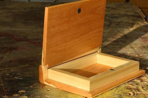 wooden book keepsake box woodworking  mere