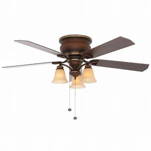 Ceiling fan light volts : Hampton bay eastvale in indoor berre walnut ceiling