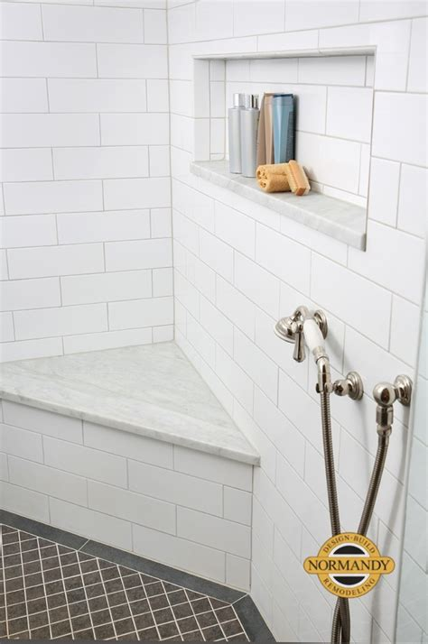 enhancing shower niches  decorative tile normandy