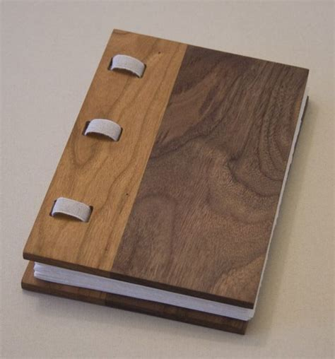 Wooden Book by Black Walnut And Cherry Wood Covered Book Wooden Book