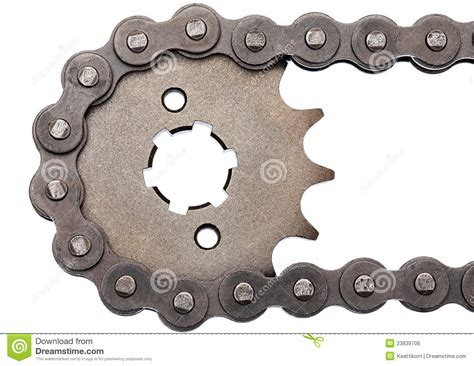 Sprocket And Chain Royalty Free Stock Image