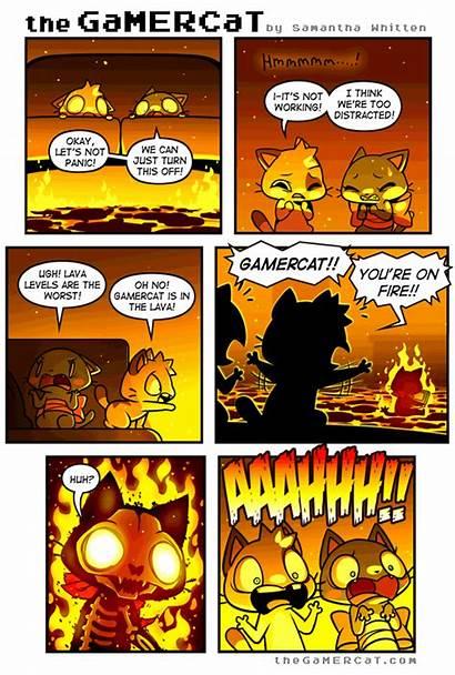 Comics Gamercat Cat Gamer Funny Sunday Comic