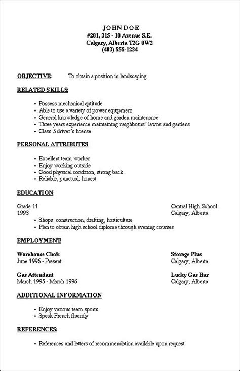 Resume Outline Template by 20 Best Resume Template Images On Resume