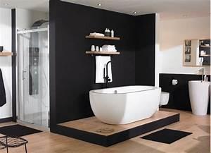 Salle De Bain Noire Et Blanche : une salle de bain en noir et blanc home staging ~ Melissatoandfro.com Idées de Décoration