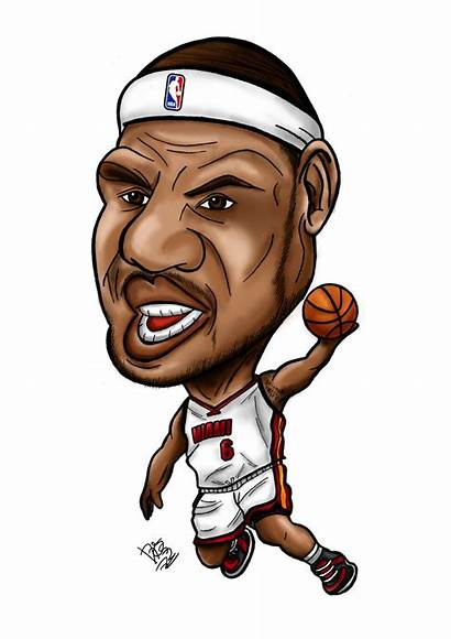 Lebron James Caricature Clipart Cartoon Drawing Clip