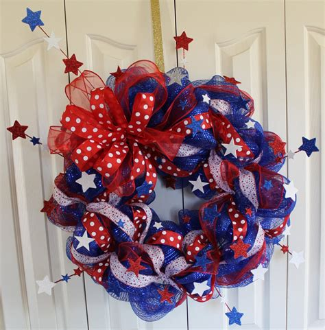 4th of july wreath celebrate your freedom day with beautiful 4th of july wreath homesfeed