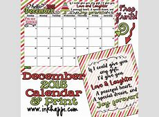 December 2015 Calendar is up All I can say is WOW! inkhappi