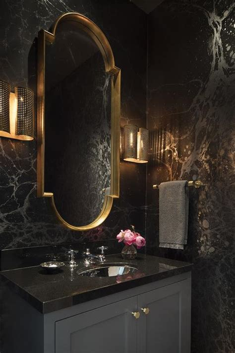 art deco powder room design hollywood regency bathroom