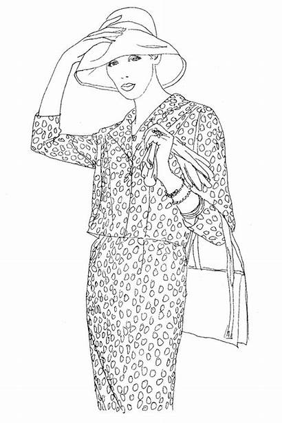 Coloring Vogue Colouring Pages Adult Books Sheets
