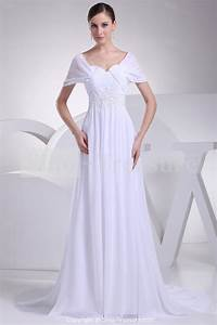 Simple white wedding dresses with sleeves wwwpixshark for Simple white wedding dress