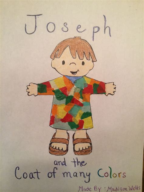 coat of many colors in the bible joseph and the coat of many colors children s church craft