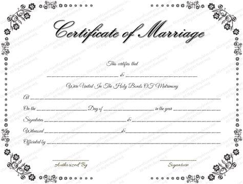 Fake Marriage Certificate Template Costumepartyrun